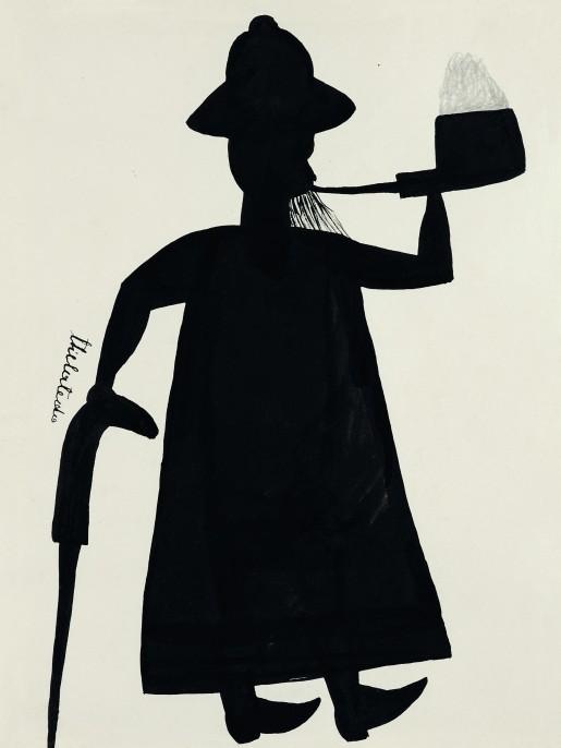1930, Gouache et encre sur papier, 24.5 x 18 cm Musée royal de l'Afrique centrale, Tervuren © Djilatendo/Photo © MRAC Tervuren