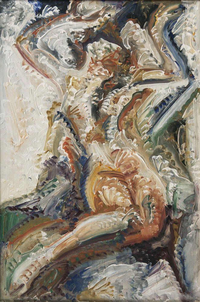 Johann Bossard (1874 Zug - 1950 Jesteburg), Weiblicher Akt mit erhobenen Armen, Öl/Lwd., monogrammiert | Foto: Stahl