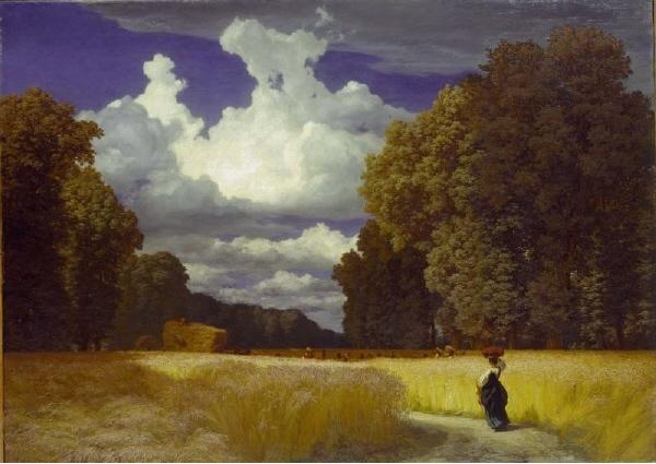 """ROBERT ZÜND. Die Ernte """"La cosecha"""" (1859) © Kunstmuseum de Basilea"""