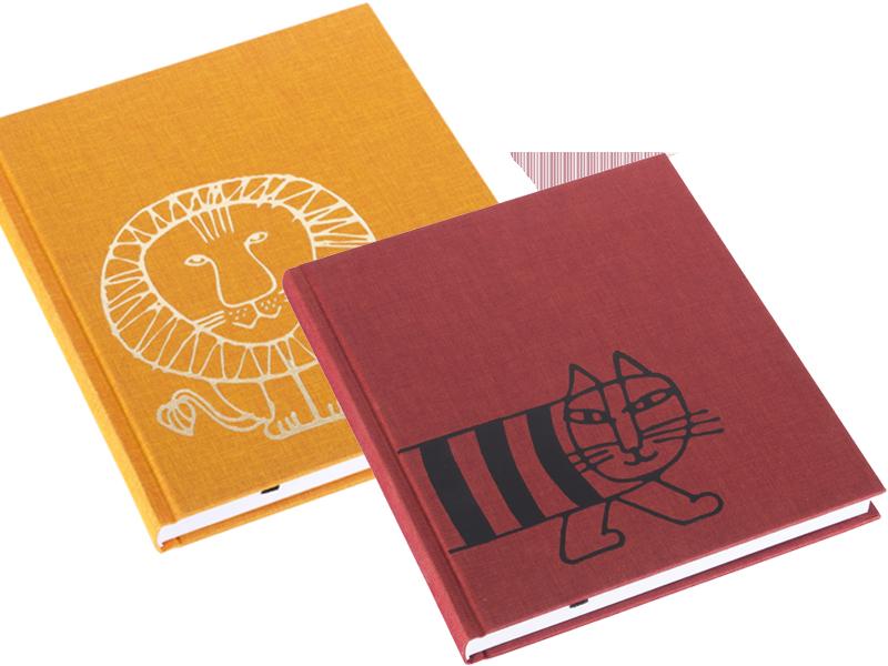 Böcker med Lisa Larson-motiv från Bookbinders Design