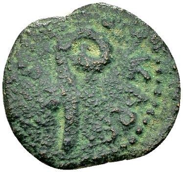 Röm. Münze des Pontius Pilatus und Kaiser Tiberius (14-37 n. Chr.), Judäa 30/31 n. Chr. Ergebnis: 120 EUR