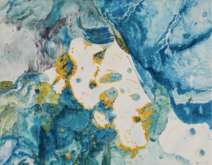 MAX WEILER (Absam bei Hall i. Tirol 1910 - 2001 Wien) - Durchblick durch blaue Gegend, Eitempera/Lwd., 105x130,5 cm, betitelt, signiert und datiert, 1975 Schätzpreis: 100.000-200.000 EUR