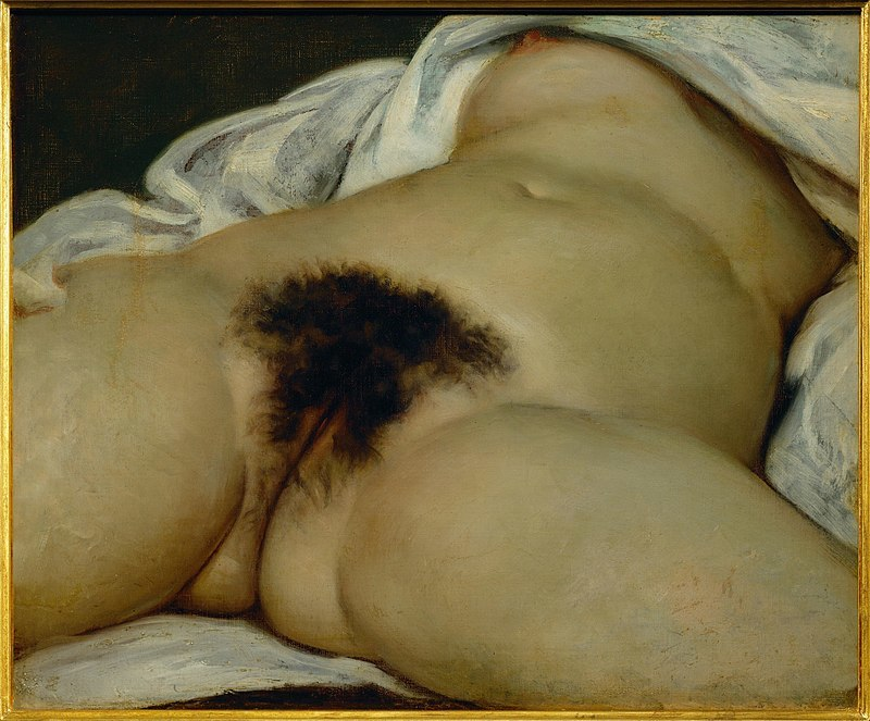 Gustave Courbet, The Origin of the World, 1866, oil on canvas, 46 × 55 cm (Orsay Museum, Paris)