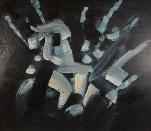 """Engelbert Van Anderlecht  Peinture HST """"composition"""" Rops"""