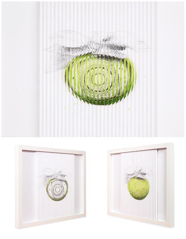 LUDO Apple Spy, 2011 Crayon et huile sur papier