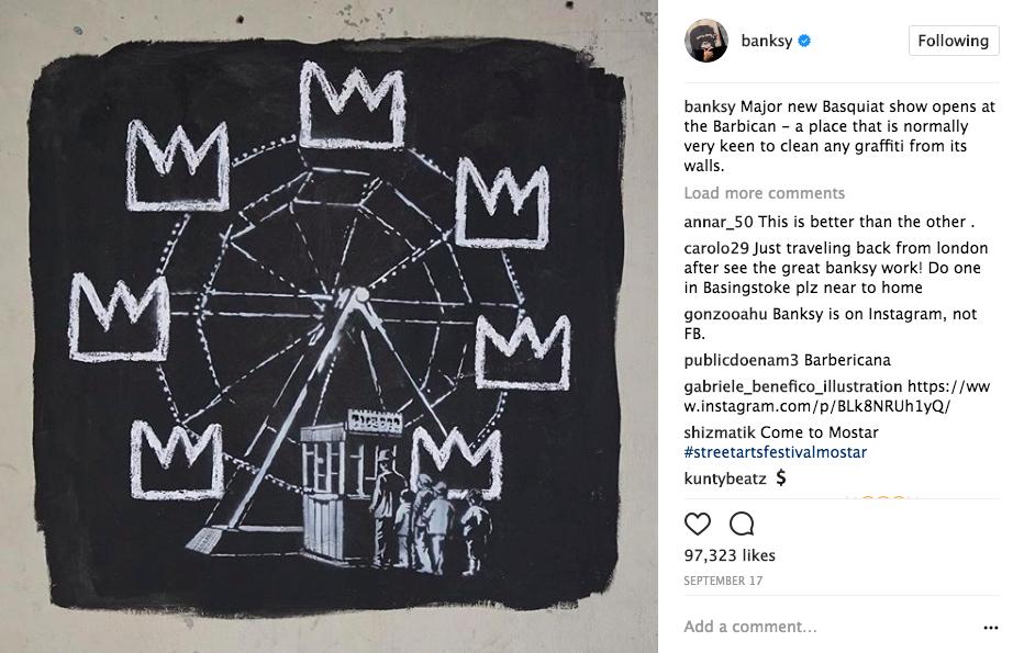 Image via Instagram @banksy