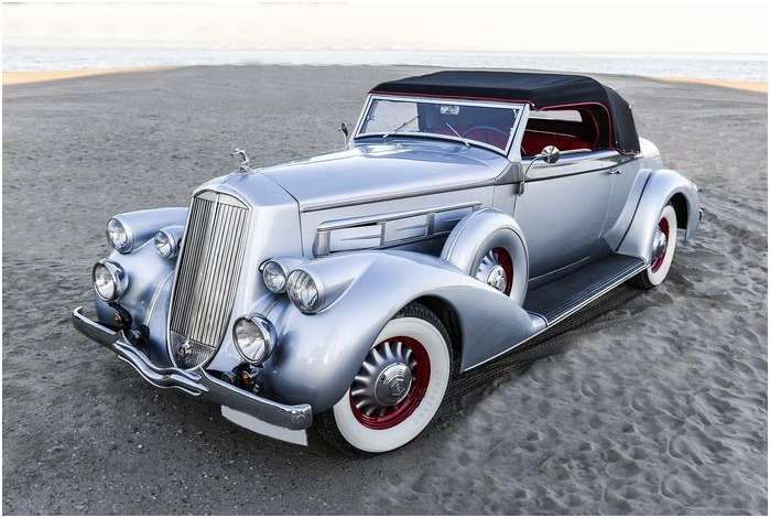 PIERCE ARROW - 1601 Convertible Coupé - 1936. Utropspris: 1,9 - 2,5 miljoner kronor.