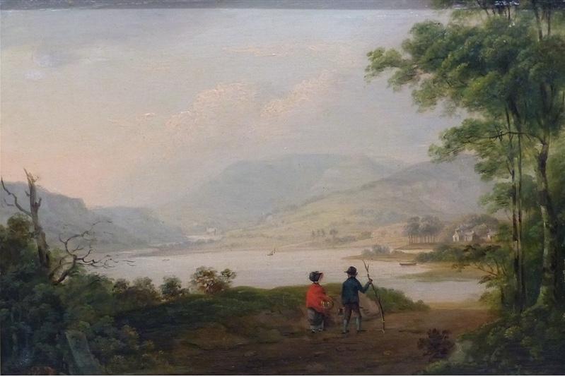 THOMAS FENWICK (gest. nach 1850) - Flusslandschaft, Öl/Holz, 17,5x25 cm Taxpreis: 700 EUR