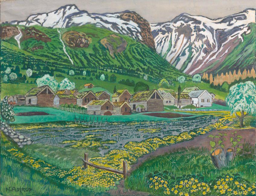 "Nikolai Astrup ""Soleienatt"" 1915. Blomqvist."