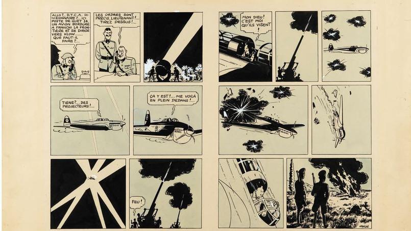 Double planche du Sceptre d'Ottokar parue dans Le Petit Vingtième en 1939 Image: Hergé/Moulinsart 2015