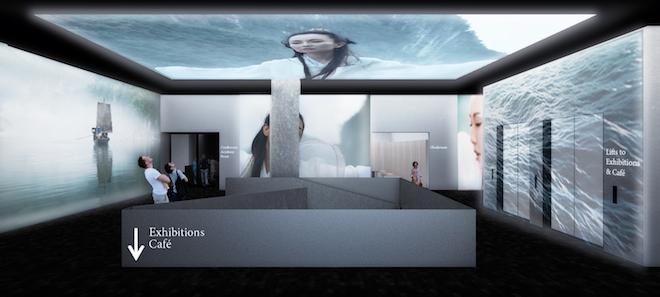 Interiör från arkitekternas skisser på Fotografiska i London