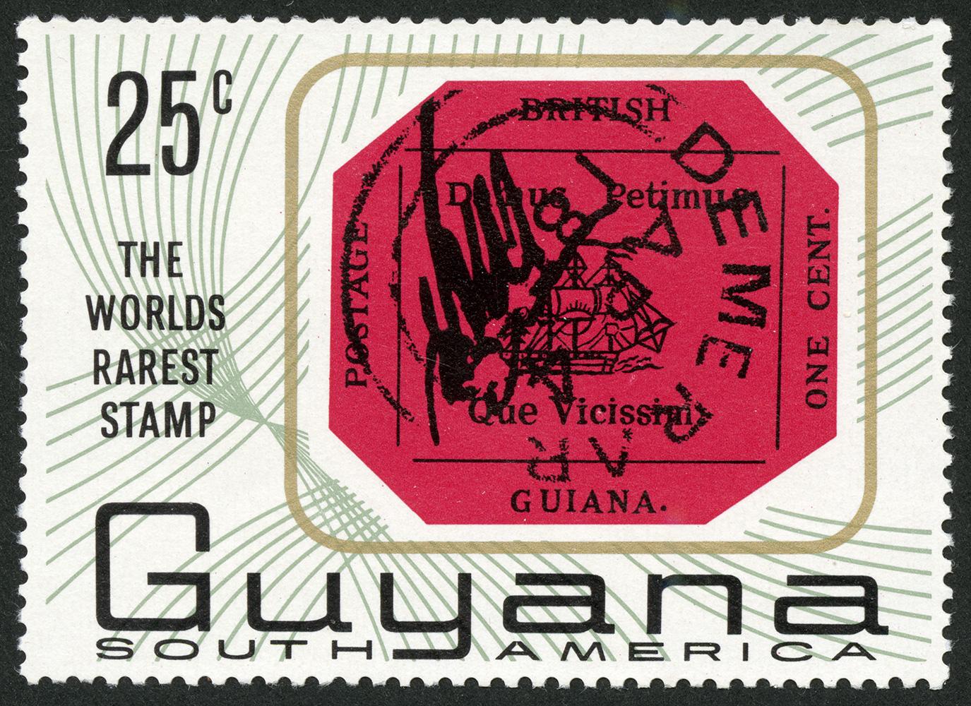 Le timbre de l'ex-colonie britannique du Guyana dont il ne reste qu'un seul exemplaire est incroyable par sa rareté et son parcours rocambolesque