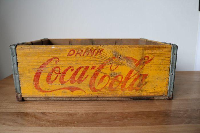 Boîte en bois Coca-Cola, années 1950