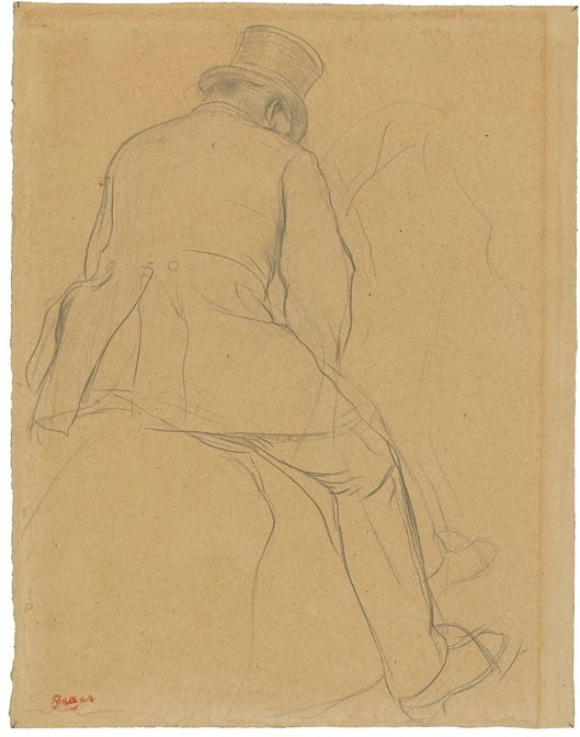 Edgar Degas, 'Cavalier', 1866-73, pencil and paper. Photo: Grisebach