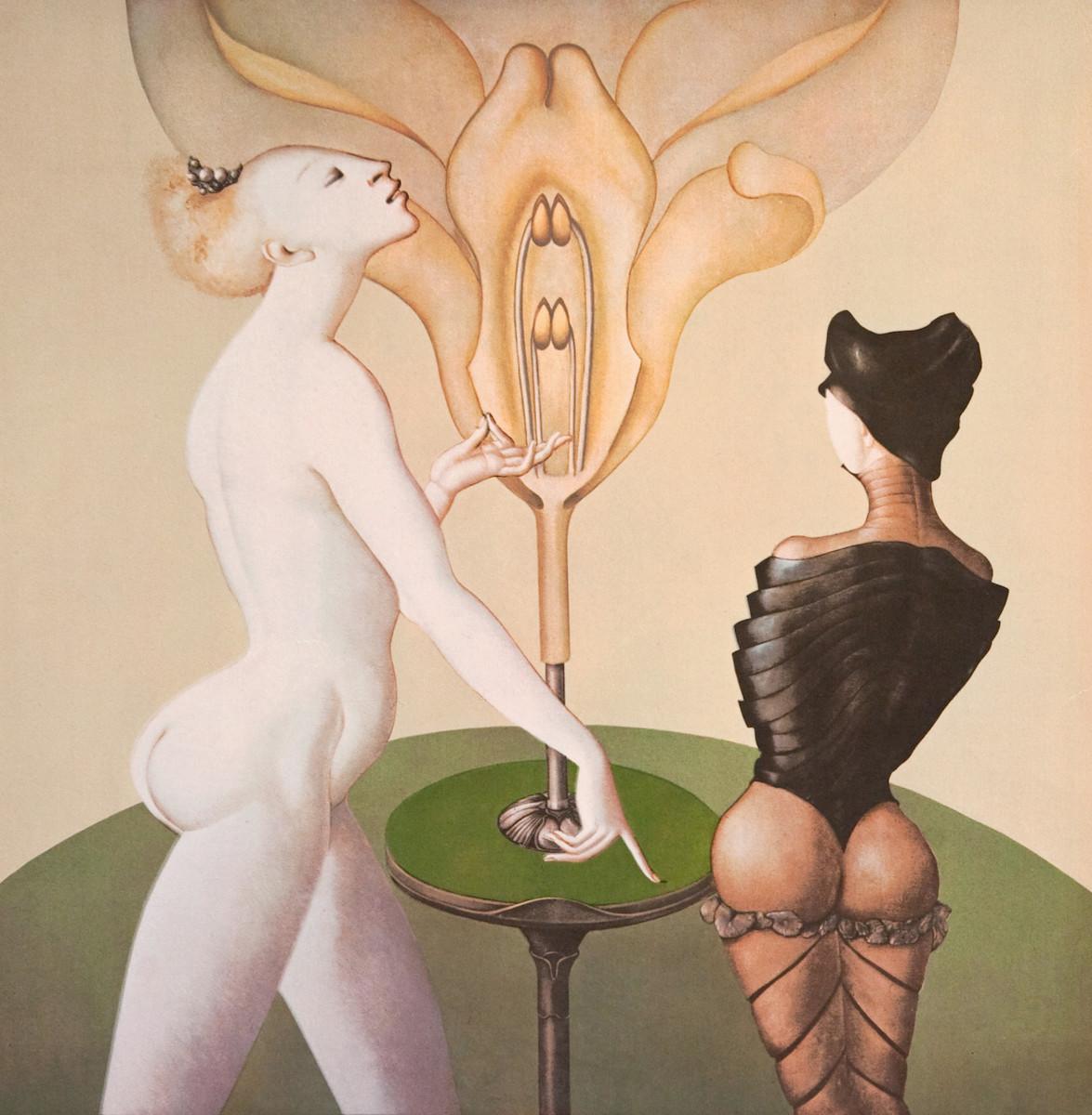 Leonor Fini, La Leçon de Botanique, 1973, ©Weinstein Gallery / Galerie Minsky