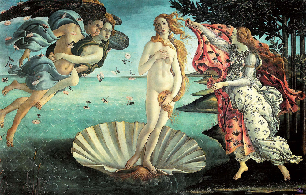 La Naissance de Vénus de Sandro Botticelli, signe annonciateur de l'humanisme de la Renaissance Image via business.lesechos.fr