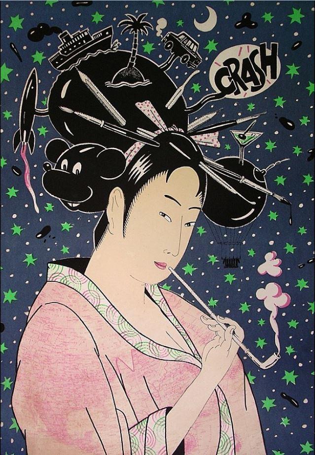 "Fernando Bellver obra ""Geisha II"""