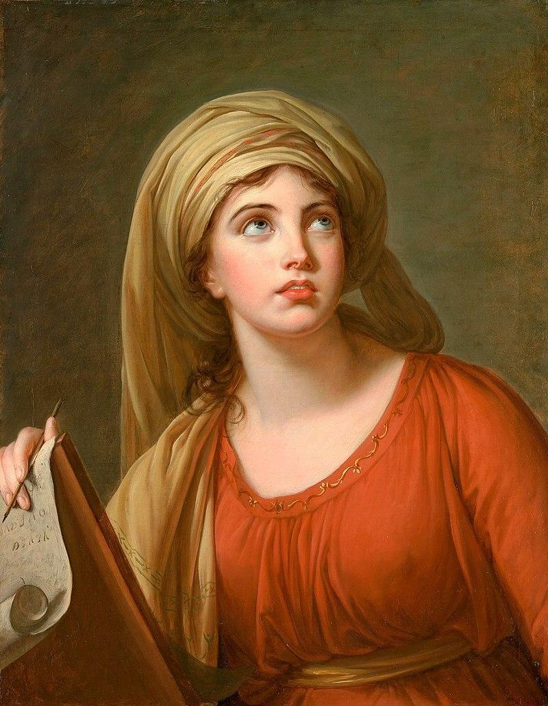 Lady Hamilton as the Cumaean Sybil, Elisabeth Vigee Le Brun. 1792, oil on canvas. Image: The Met
