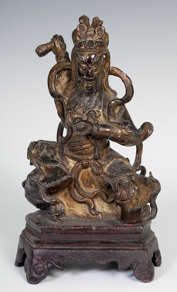 Skulptur, Kina, 1500-tal. Brons med rester av polykrom.