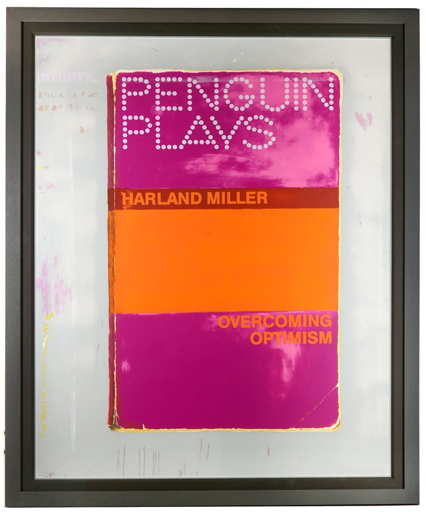 Harland Miller, 'Overcoming Optmism', 2014. Image: Chiswick