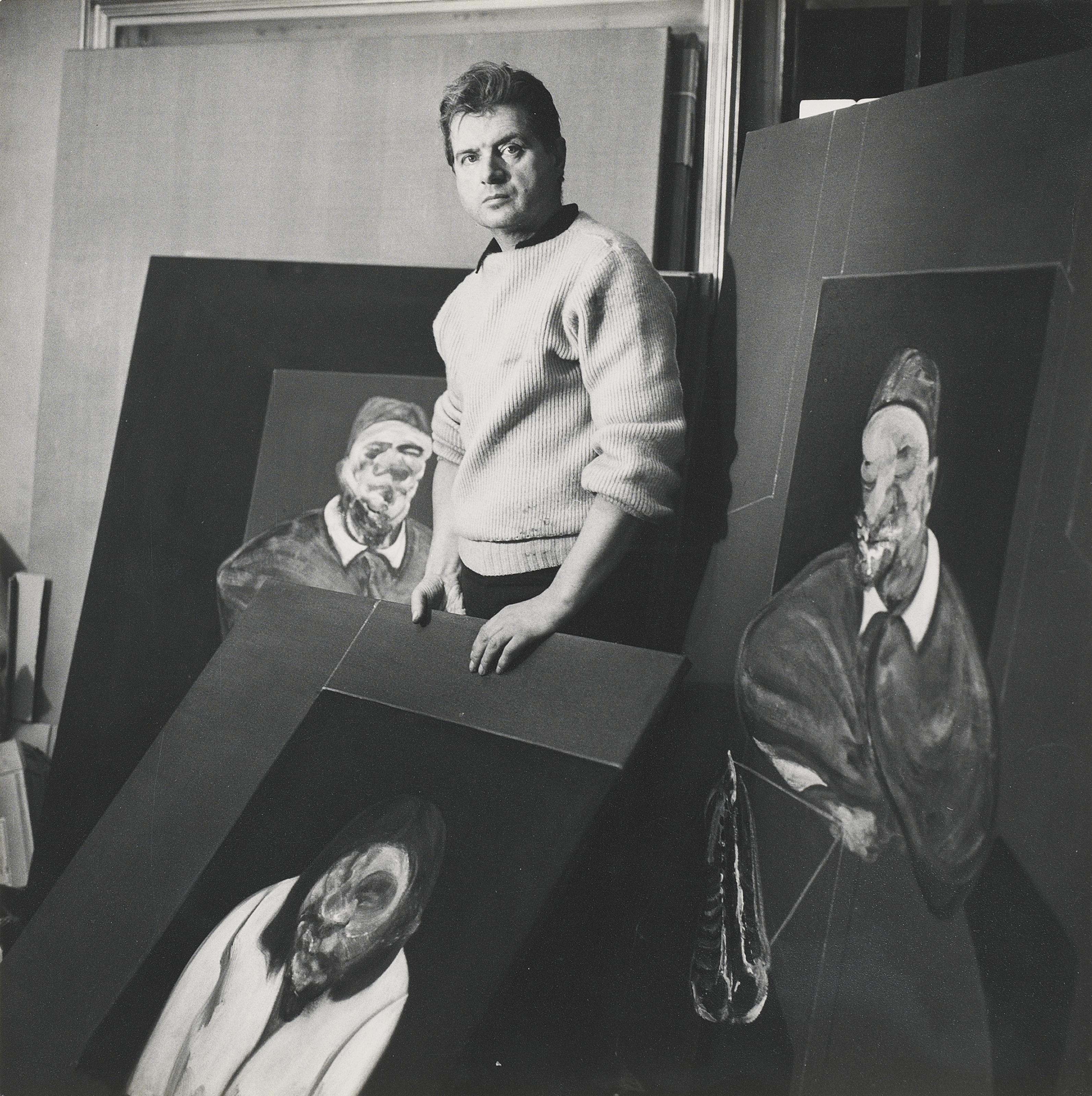 Cecil Beaton, Francis Bacon nel suo studio, 1960, immagine © Christie's