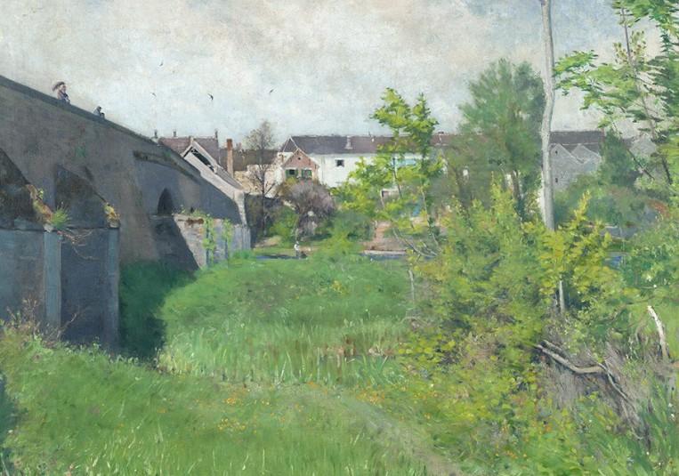 Karl Nordström, Gamla bron i Grez, 1882. Olja på duk. Foto: Prins Eugens Waldemarsudde.