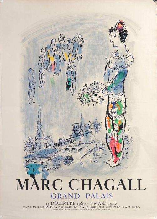 Marc Chagall, 'Grand Palais', 1970s, lithograph. Photo: Catawiki
