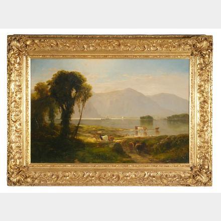 Hudson River Landscape, John William Casilear. Oil on canvas.