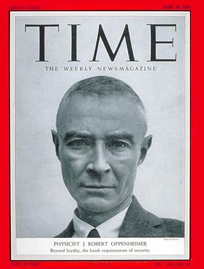 J. Robert Oppenheimer,羅伯特·歐本海默(1904年4月22日-1967年2月18日)),物理學家,被譽為人類「原子彈之父」。