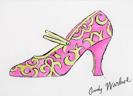 Attribué à Andy Warhol Pink Shoe from a la Recherche du Shoe Perdu, circa 1955 RoGallery