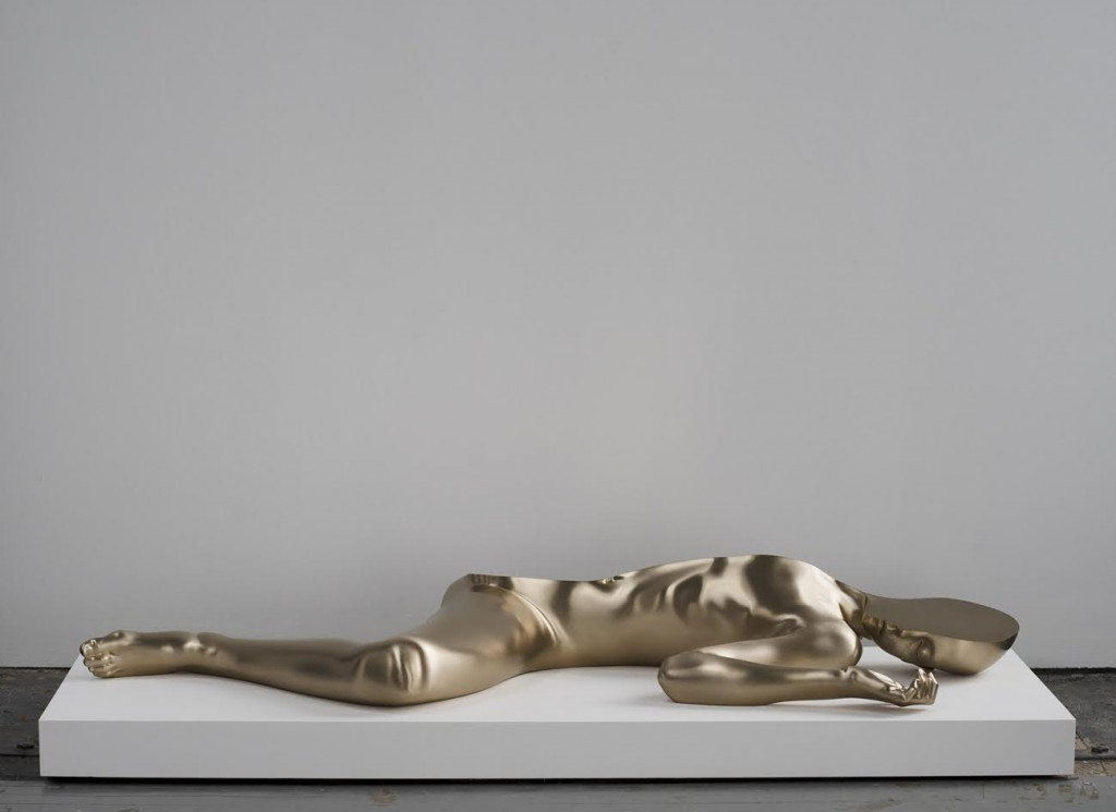 Half Girl (left) 2016. Bronze (polished patina) 120 × 53 × 16,2 cm edition of 5 + 2 AP