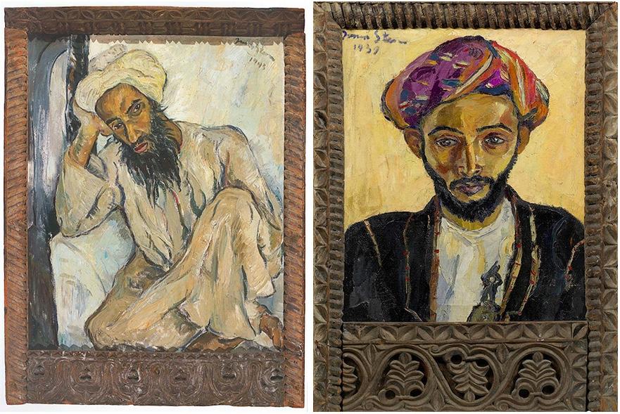 Links: Irma Stern, Arab Priest (1945) Rechts: Irma Stern, Arab in Black (1939)   Beide Fotos via Artnet