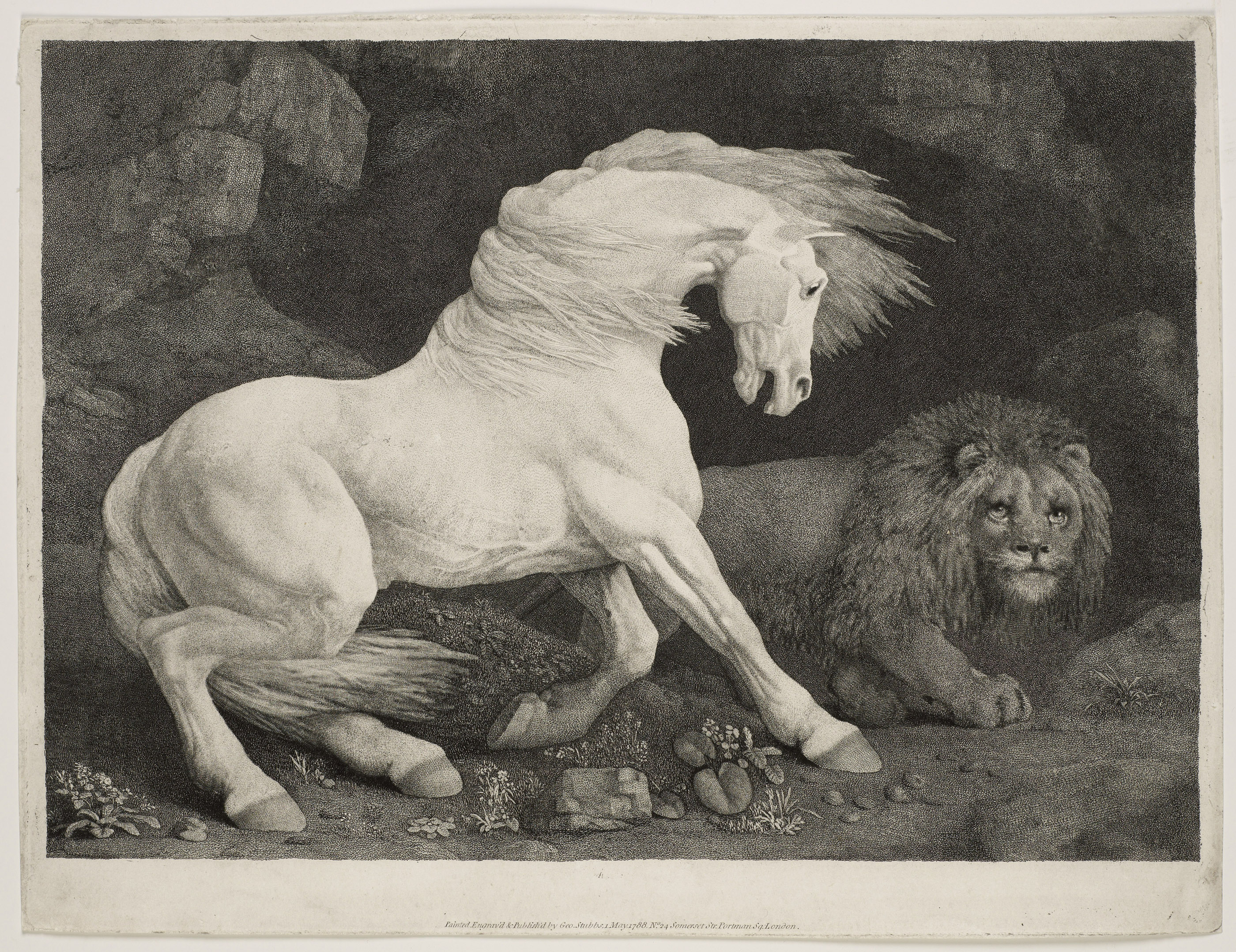 Horse Affrighted at a Lion (1788), Georges Stubbs