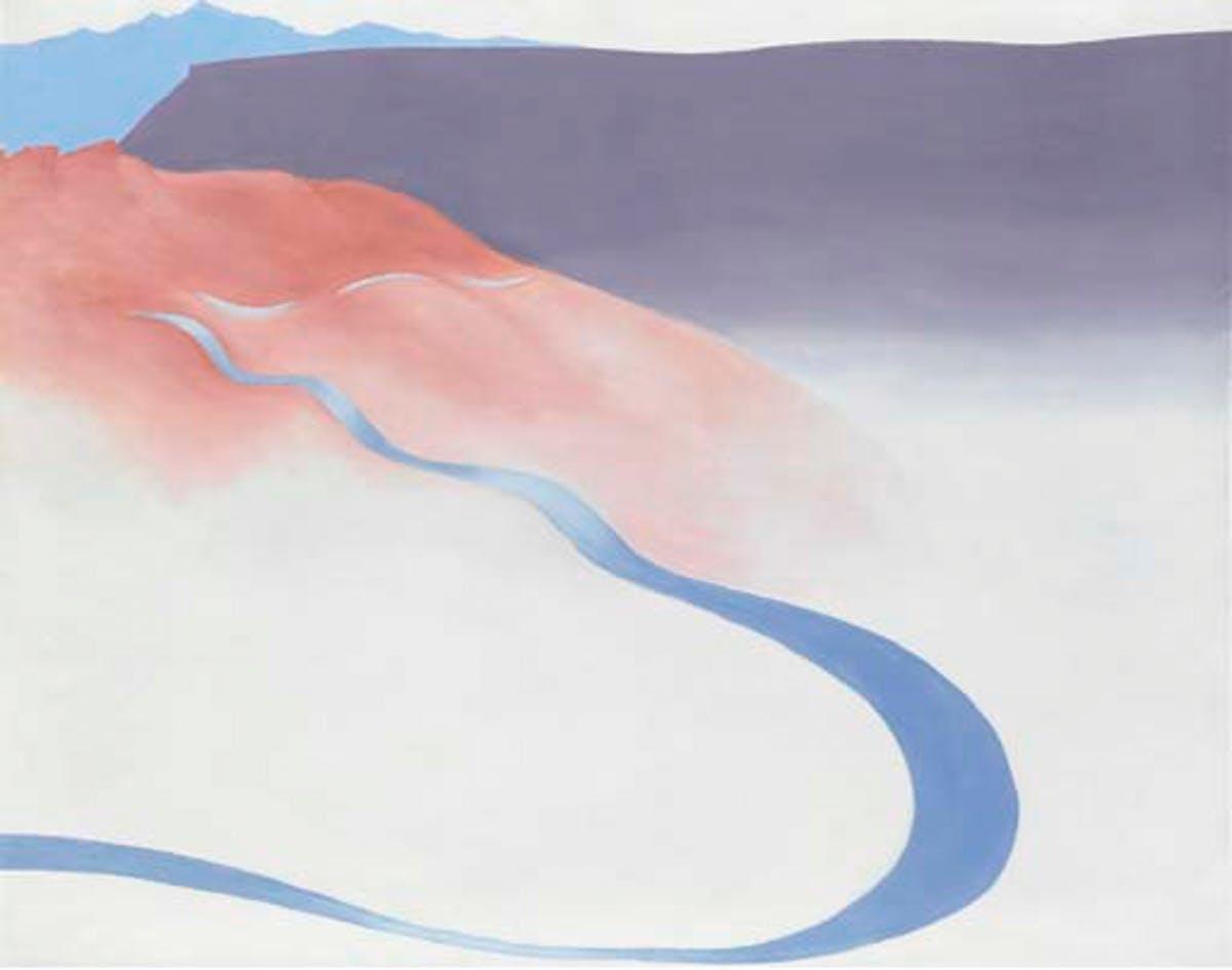 "GEORGIA O'KEFFEE. ""Road to the Ranch"" (1964)."