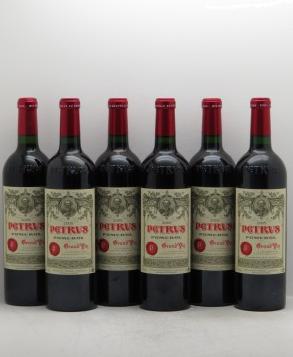 6 bouteilles de Petrus 2005 iDealwine Estimation basse: 15 000 €