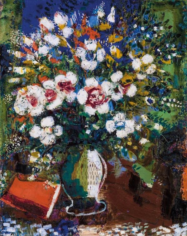 """Marc Chagall, """"Fleurs"""", signerad och daterad 1924. Utropspris: 7,4 - 9,8 miljoner kronor."""