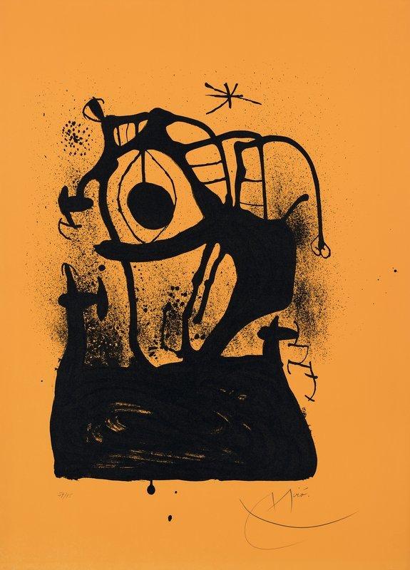 JOAN MIRÓ. Le Magnétiseur Orange. 1969