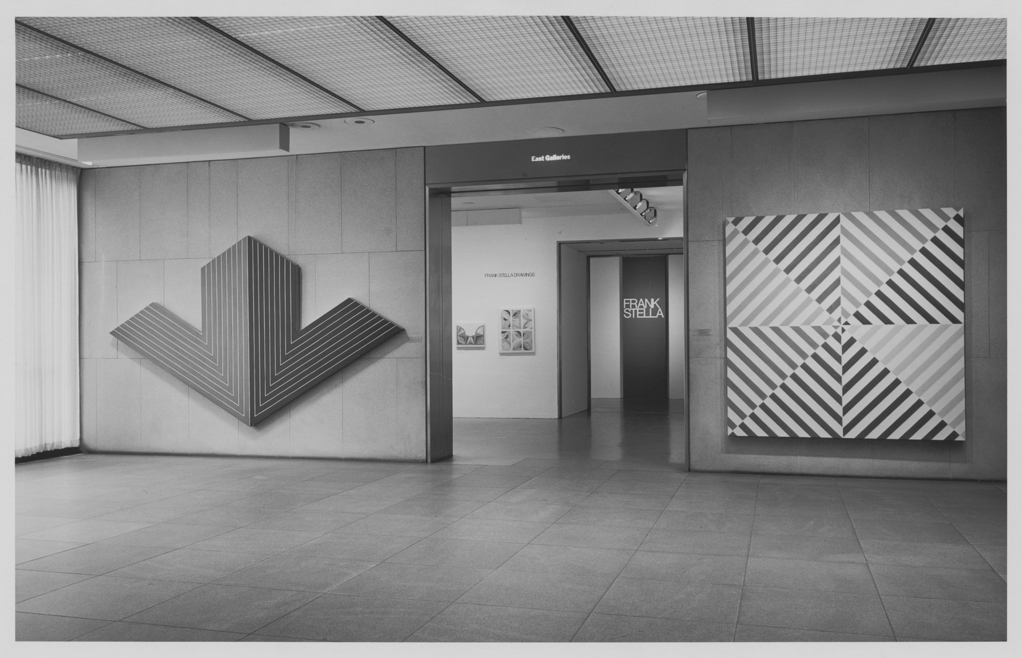 Frank Stella's retrospective at MoMA in 1970. Image: MoMA