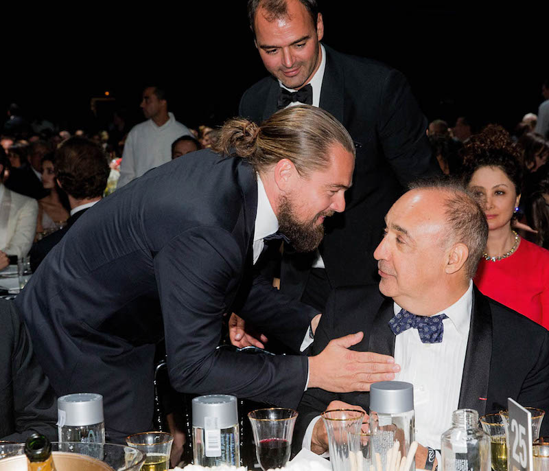Leonardo DiCaprio attends dinner for the amfAR 22nd Annual Cinema Against AIDS Gala at Hotel du Cap-Eden-Roc on May 21, 2015 in Cap d'Antibes, France. (Photo by Kevin Tachman/amfAR15/WireImage)