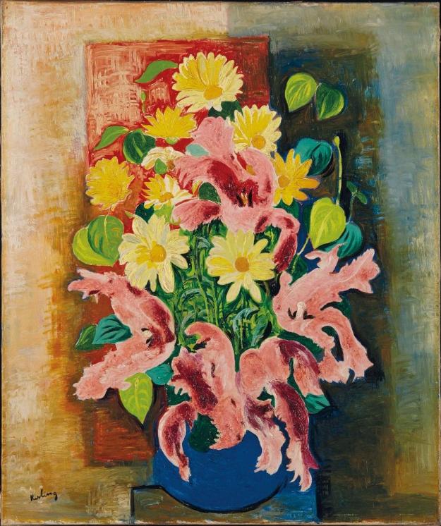 Moise KISLING (Cracovie 1891- Sanary sur mer 1953) Bouquet de fleurs, circa 1935-39