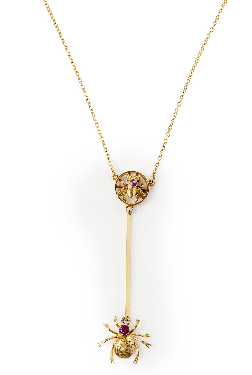A gem set insect pendant Low estimate: £150 Lyon & Turnbull