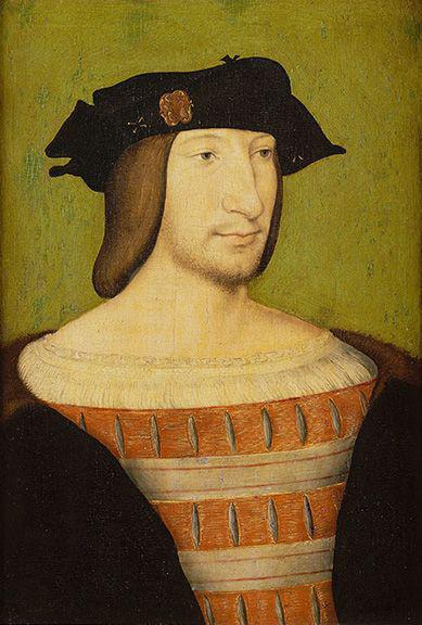 Attributed to Jean Clouet Portrait de François Ier Chantilly Musée Condé Image via Château de Chantilly