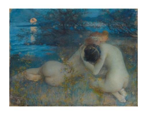 法國象徵主義/新藝術風格的藝術家Lucien Lévy-Dhurmer( 1865 – 1953)