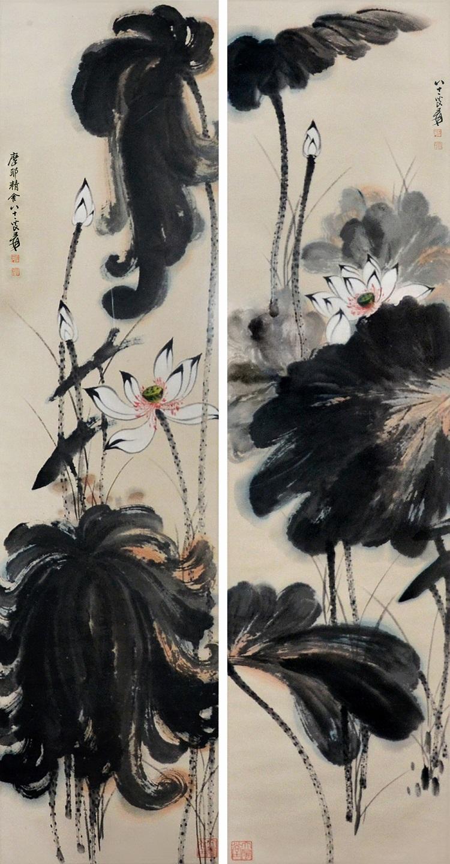 "Zhang Daqian (1899-1983 ""Lotus"", utropspris 851 000 sek."