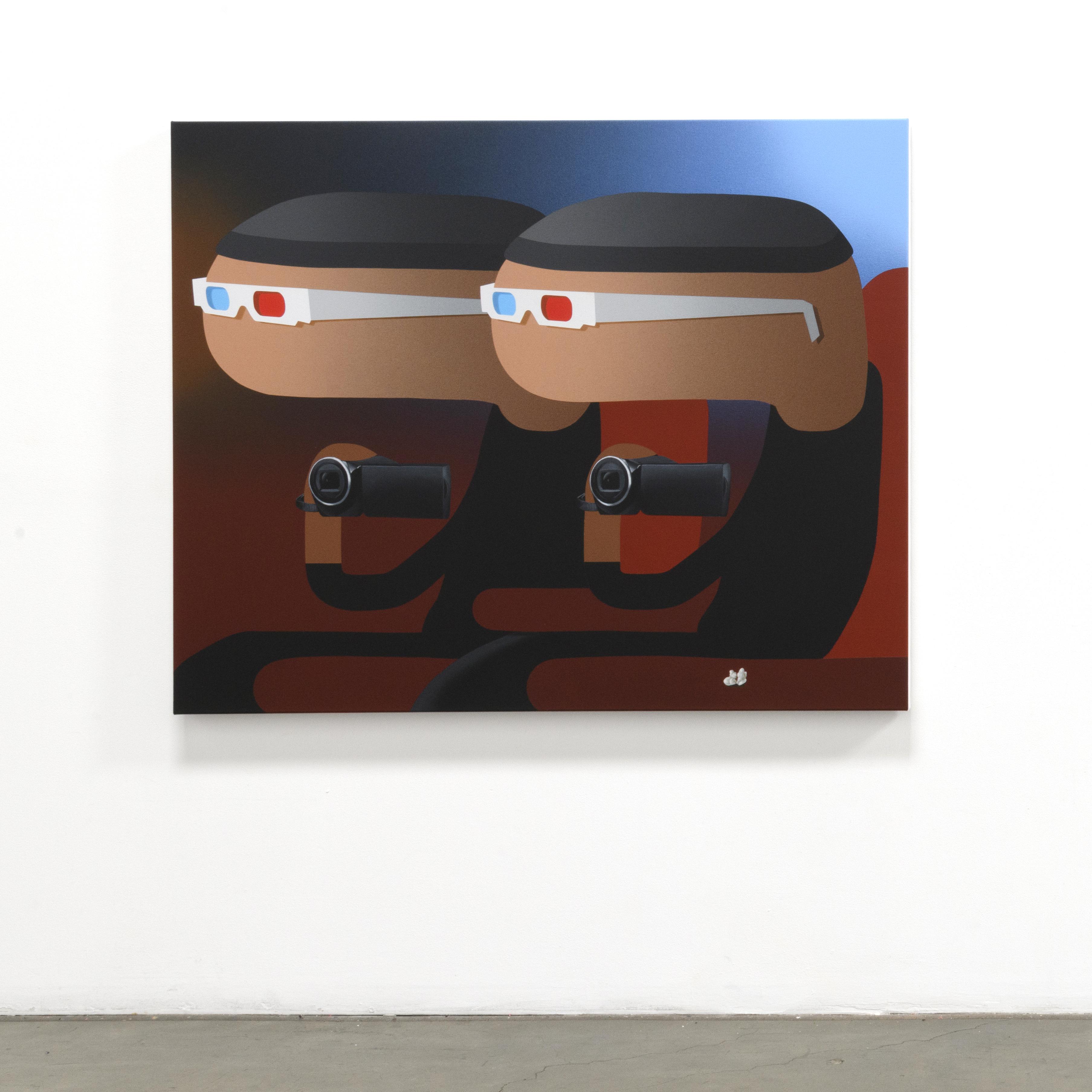 Oli Epp, «Copycat», 2019, huile et acrylique sur toile, image publiée avec la permission de l'artiste et de la galerie Richard Heller