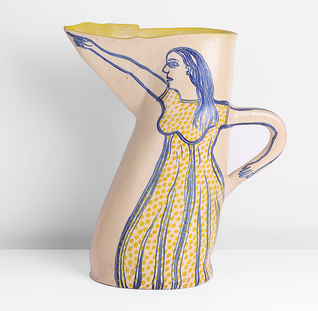 Alison Britton, Early Jug with Figures, c. 1978. Photo: Maak