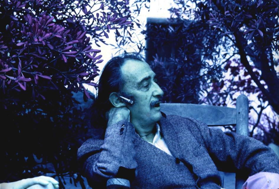 Dali en infrarouge, 1971 Photographie: Pierre Argillet