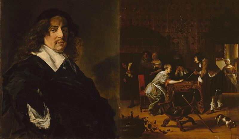 Izquierda: FRANS HALS. Portrait of a Man (c. 1660) © Museo Hermitage de San Petersburgo Derecha: JAN STEEN. Tric-Trac Players (1667) © Museo Hermitage de San Petersburgo