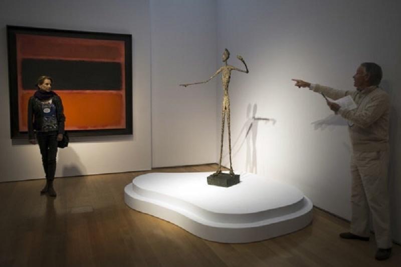 Giacomettis skulptur