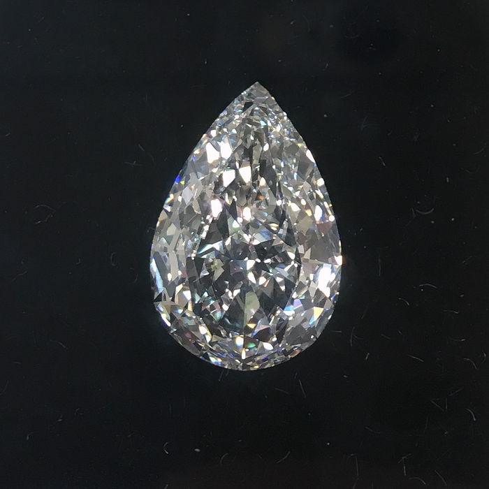 Päronformad diamant 5 karat. Auktionen avslutas den 18 december klockan 20.00. Utrop: 2.600.000 SEK